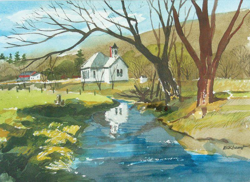Highlandville School_painting